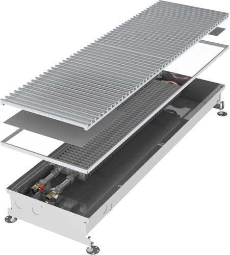 Напольный конвектор с естественной конвекцией Imp Klima ТК 105 глубина